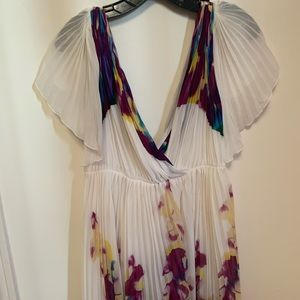 Diane Von Furstenberg Watercolor Kimono Dress